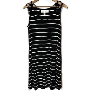 FRENCH LAUNDRY Black/White Stripe Tank Dress Small